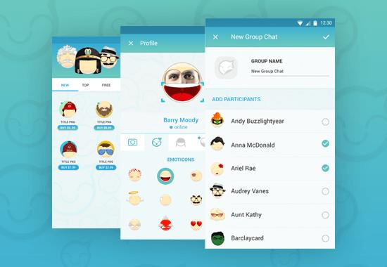 Chat with emoji editor